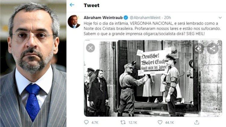 A noite dos cristais: a infeliz comparação de Abraham Weintraub com o episódio nazista