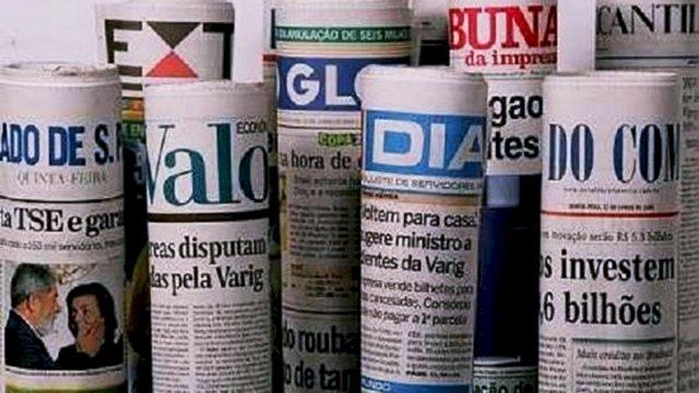 Manchetes de domingo. Resumo comentado maiores jornais do Brasil